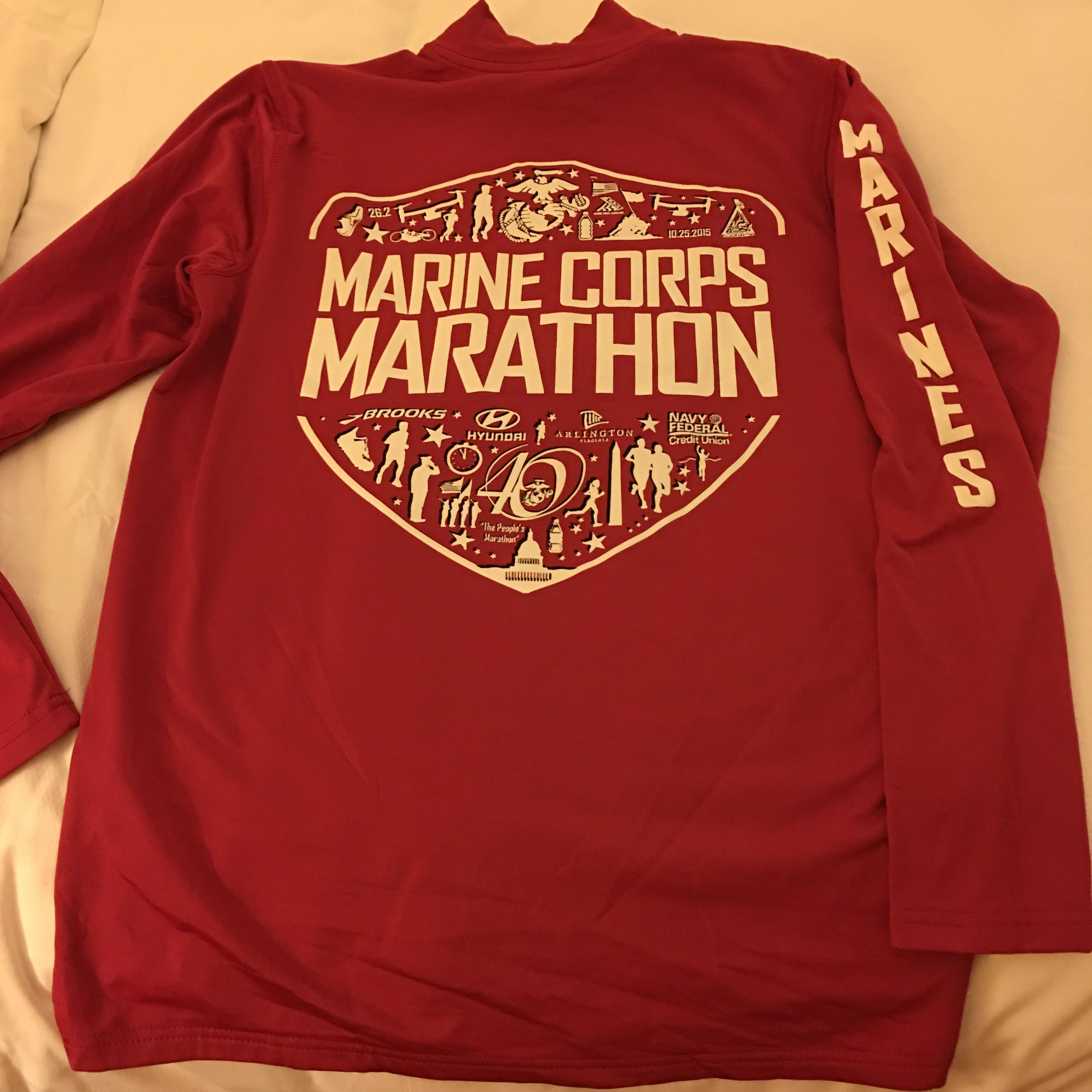 40th marine corp marathon expo wife mother runner for Marine corps marathon shirt 2017